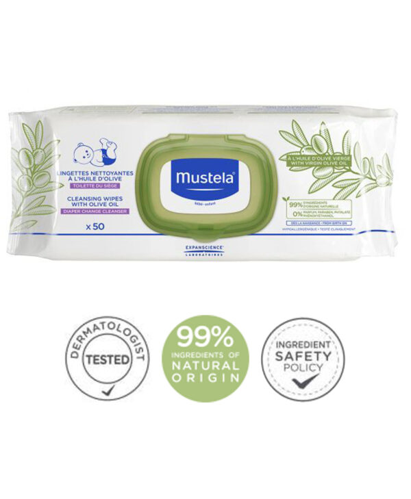 Mustela - Cleansing Wipes with Olive Oil 50 Wipes